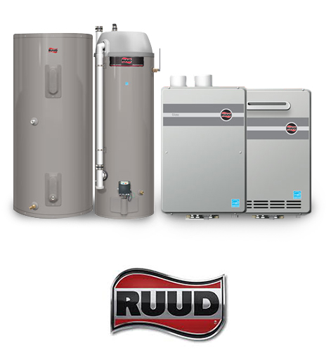 RUUD Gas, Tankless and Electric Water Heaters